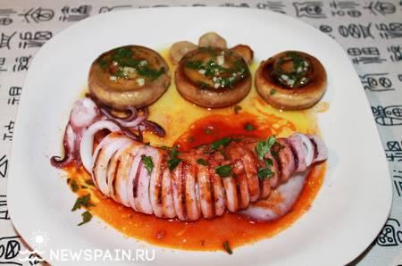 Кухня Испании, рецепты испанской кухни, отдых в Испании, блюда из кальмаров