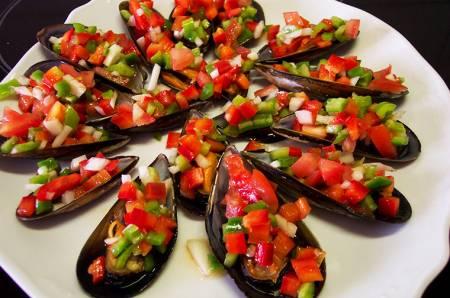 рецепты испанской кухни, рецепты из морепродуктов, мидии а ла винегрета